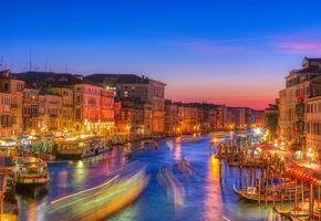 Заставки Grand canal, sunset, Venice