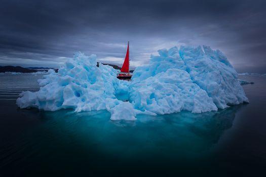 Заставки Гренландия, айсберг, Атлантика