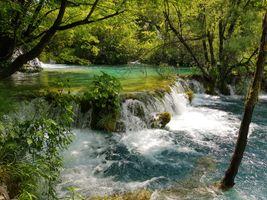 Photo free river, Plitvice Lakes national park, landscape