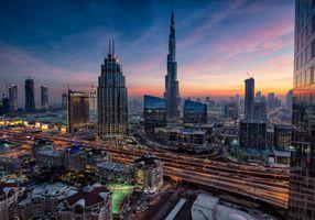 Фото бесплатно ночные города, ночной город, небоскребы