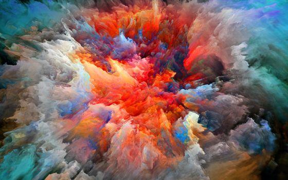 Photo free artstation, brightness, explosion