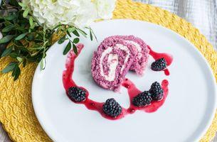 Фото бесплатно десерт, пирожное, рулет