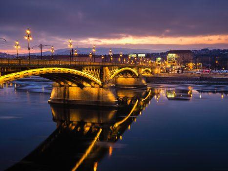 Заставки восход, закат солнца, мост