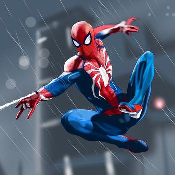 Человек-паук пускает паутину · бесплатное фото