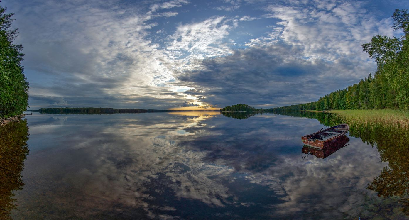 Фото лодки Финляндия пейзаж - бесплатные картинки на Fonwall