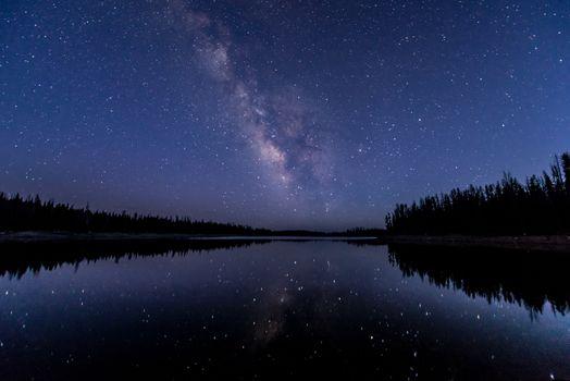 Фото бесплатно Млечный Путь, озеро, отражение