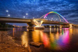 Фото бесплатно река, ночь, город