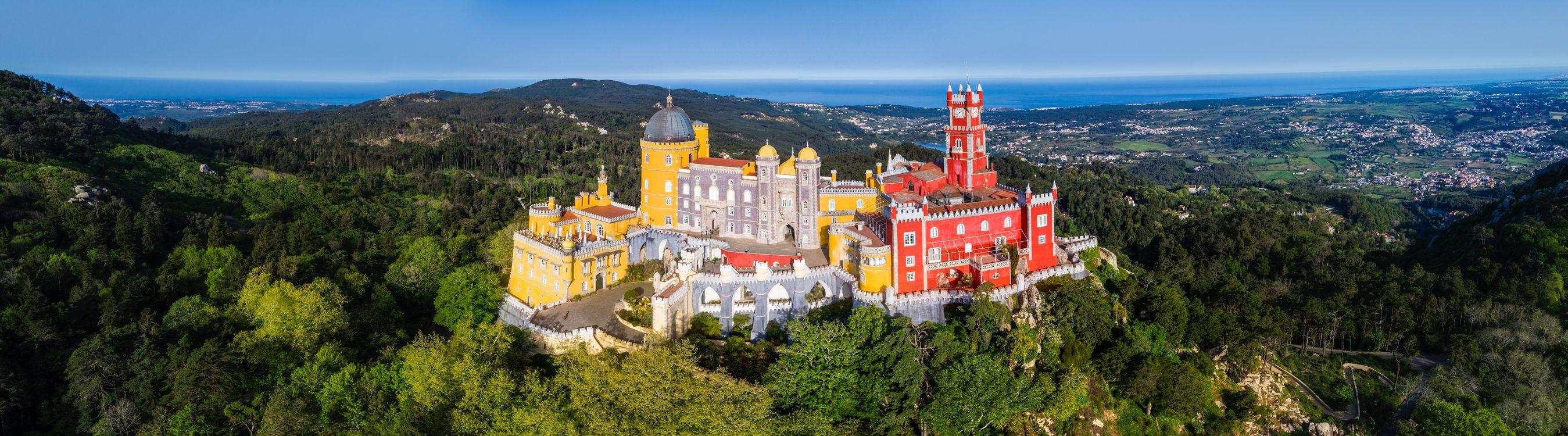 Фото бесплатно Pena Palace Pano, Дворец Пена - Синтра, Португалия - на рабочий стол