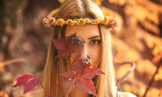 Photo free style, wreath, glamour