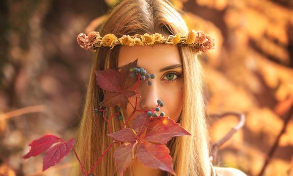 Photo free style, wreath, glamour