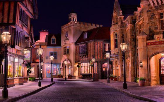 Фото бесплатно дома, улица, ночь