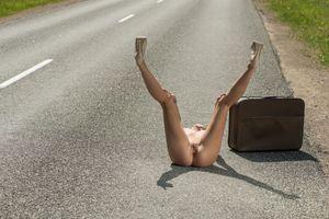 Фото бесплатно на улице, шоссе, чемодан