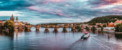 Фото бесплатно прага, чешская республика, сансет