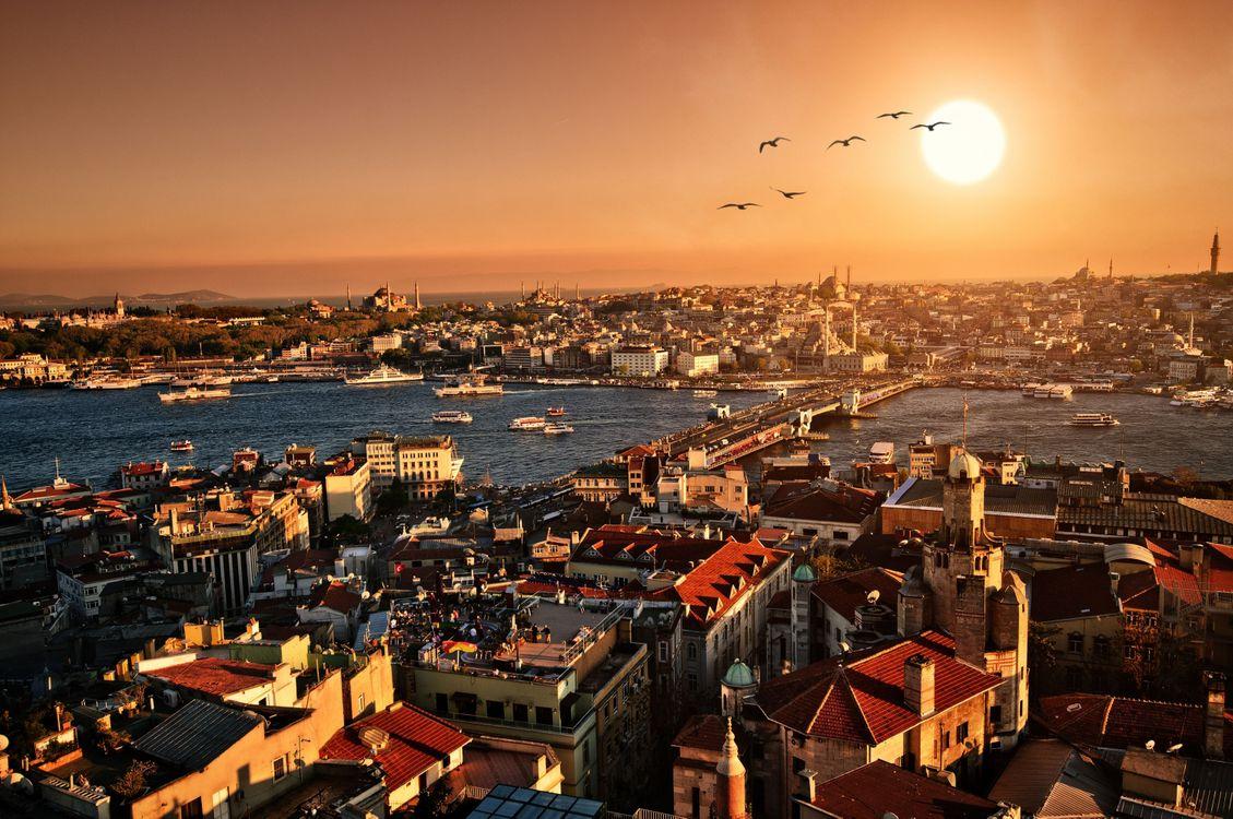 Вечерний Стамбул · бесплатное фото