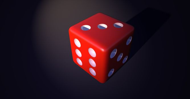 Photo free cube, red, dice