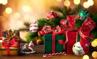 Фото бесплатно рождество, фон, новый год