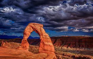 Бесплатные фото Изящная Арка,Национальный парк Арчес,Юта,горы,скалы,небо,облака