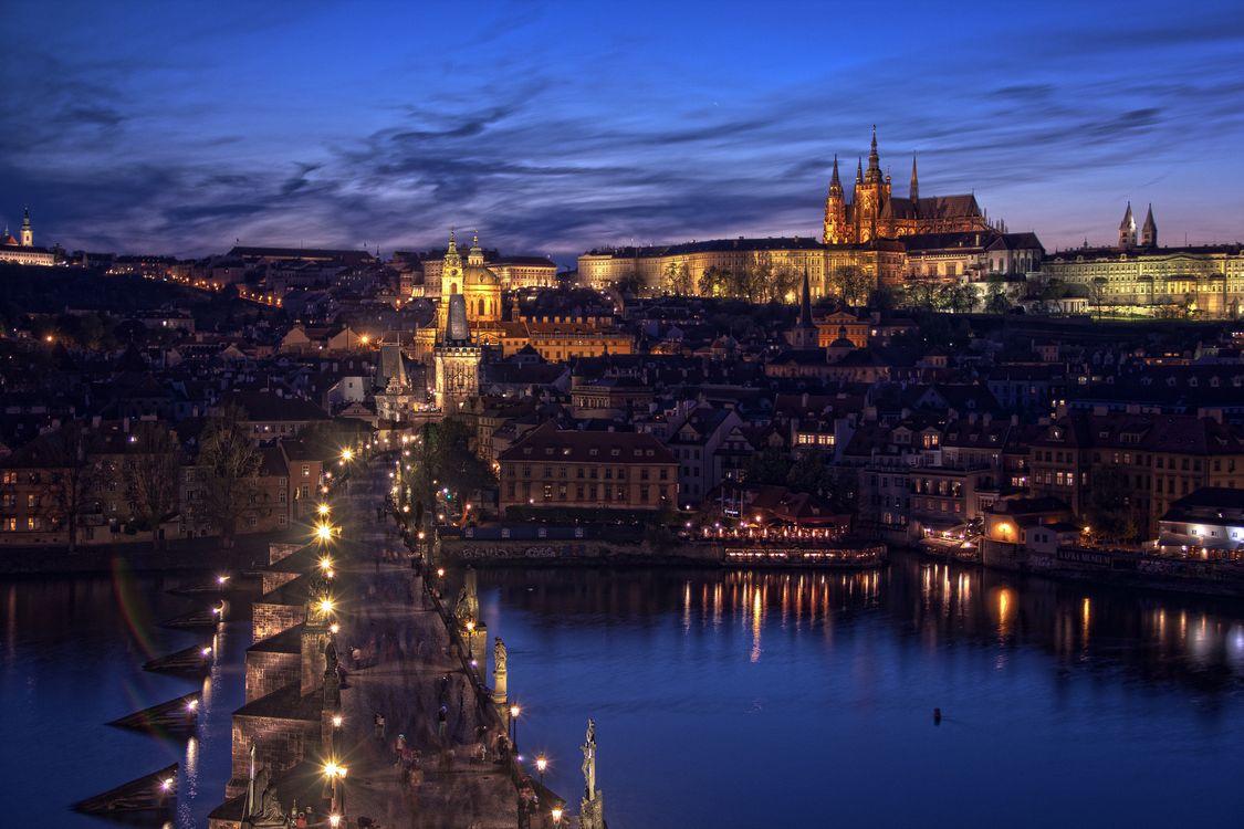 Фото Прага фонари ночь - бесплатные картинки на Fonwall