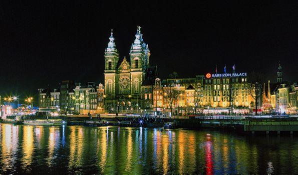 Фото бесплатно Амстердам, церковь Святого Николая, Нидерланды