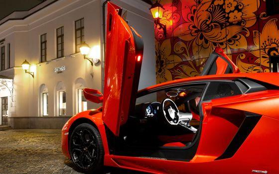 Фото бесплатно Lamborghini, Ламборгини авентадор lp700-4, красный