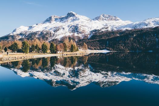 Заставки озеро,синий,зеркало,падать,зима,осень,снег,дерево,деревьями,зеленый,коричневый,рыжих