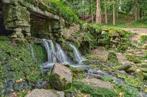 Заставки Павловский парк, летний водопад, Россия