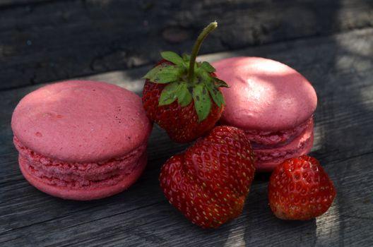 Photo free biscuits, strawberry, dessert