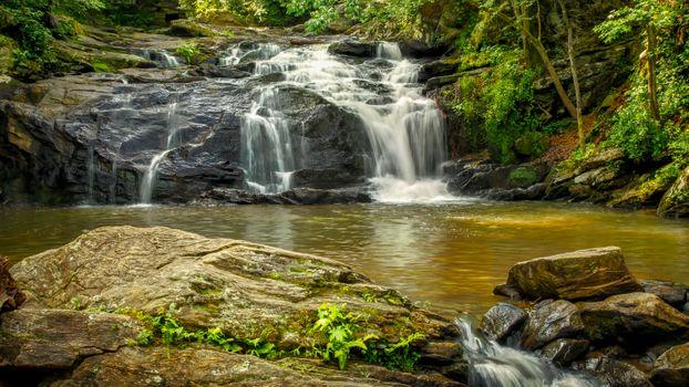 Фото бесплатно The Falls, Cochran Mill Park, водопад