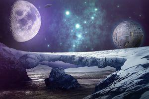 Фото бесплатно планеты, галактики, космическое пространство