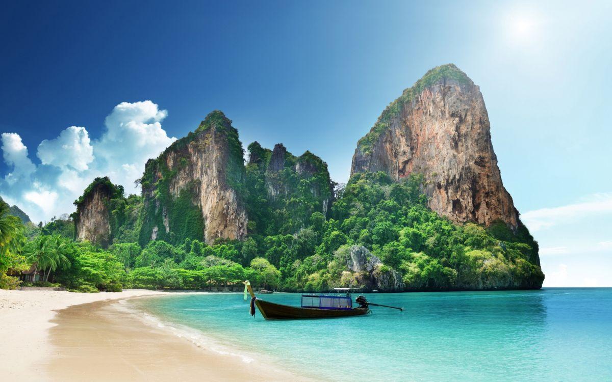 Обои пляжи, лодки, острова картинки на телефон