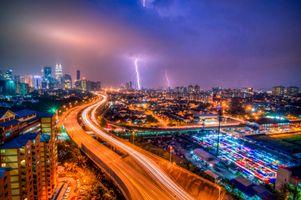 Фото бесплатно Куала-Лумпур, Малайзия город, ночь