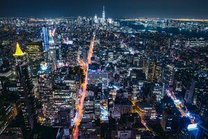 Фото бесплатно Нью-Йорк, ночь, здания