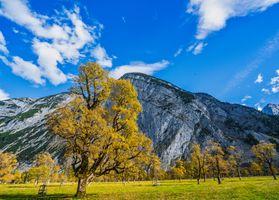 Фото бесплатно Австрия, осень, Большая кленовая земля, горы, небо, пейзаж