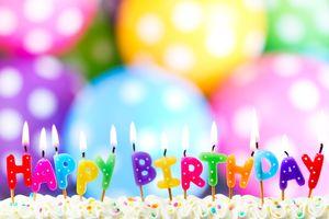 Фото бесплатно день рождения, торт, счастье