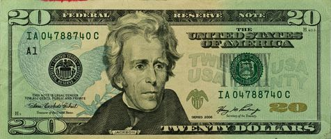 Фото бесплатно Двадцать долларов США, банкнота, 20 долларовая купюра
