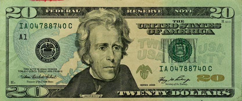 Photo free Twenty US dollars, banknote, 20 dollar bill