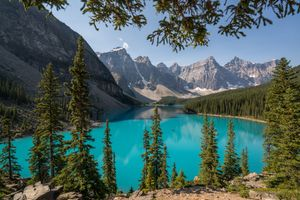 Photo free Lake Moraine, landscape, Alberta