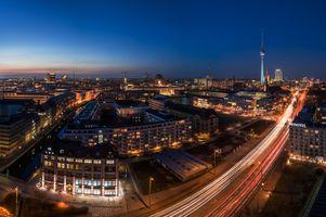 Photo free architecture, night city, lights