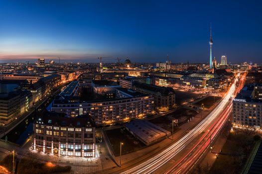 Фото бесплатно архитектура, ночной город, огни