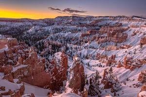 Бесплатные фото Bryce Canyon National Park,Национальный парк Брайс-Каньон,Utah,закат,горы,скалы,пейзаж
