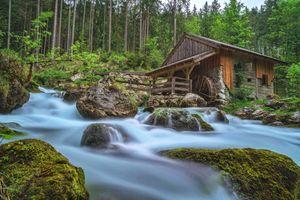Бесплатные фото Gollinger,Wasserfall,Зальцбург,Австрия,река,водяная мельница,камни