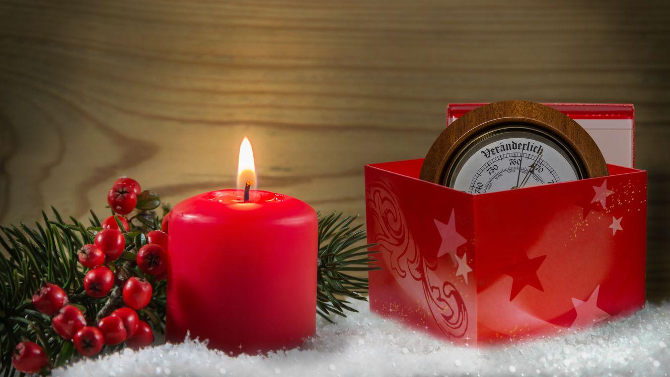 Фото бесплатно Рождественский стиль, рождественские свечи, элементы - на рабочий стол