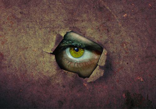 Фото бесплатно глаз, стены, ужас