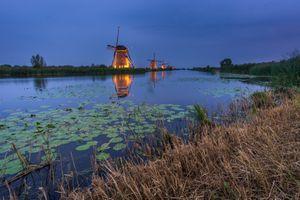 Фото бесплатно Нидерланды, закат, пейзаж