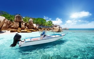 Photo free sea, boat, clear water