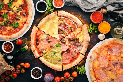Pizza and assorted spices · free photo