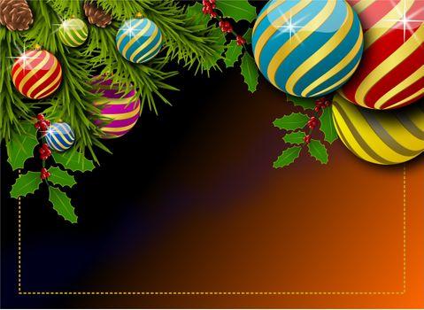 Заставки рождественский орнамент, элементы, Рождество