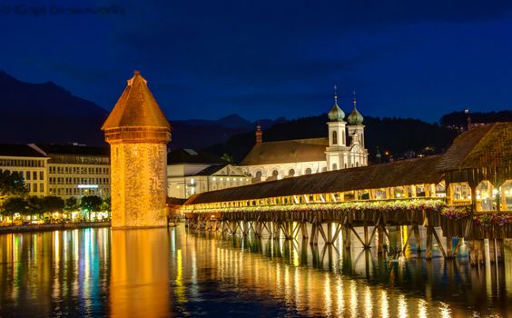 Фото бесплатно Chapel Bridge, Luzern, Switzerland