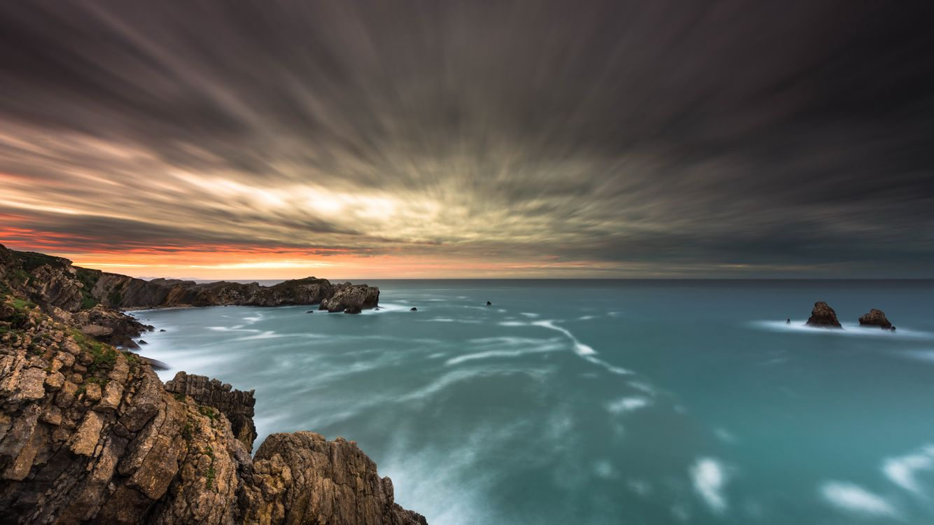 Тучи над морем · бесплатное фото