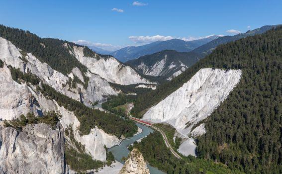 Фото бесплатно train, RegioExpress, Ruinaulta canyon